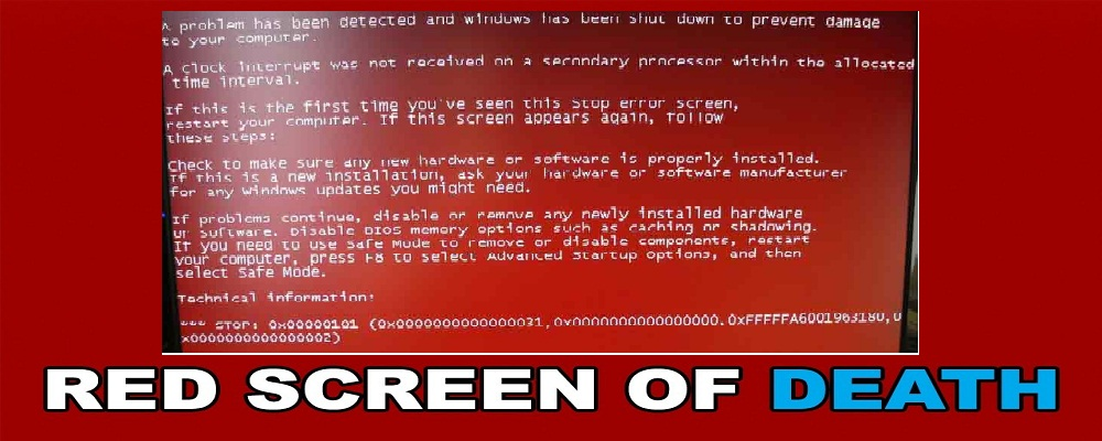 How To Get Rid of Red Screen on Windows 10